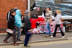 Fans arrive at Bramall Lane - Photo mandatory by-line: Matt McNulty/JMP - Mobile: 07966 386802 - 07/05/2015 - SPORT - Football - Sheffield - Bramall Lane - Sheffield United v Swindon Town - Sky Bet League One