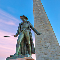 Boston fine art photography images of the historic Bunker Hill Monument and William Prescott in Charlestown, Massachusetts. It is the site of the first major battle of the American Revolution, aka The Battle of Bunker Hill. The Bunker Hill Monument on Breed's Hill is the end of the Boston Freedom Trail. Visiting this historic site and climbing to the top of the pinnacle is an experience itself but the vistas of Boston and surrounding areas are amazing and well worth the trip up the 294 steps.<br /> <br /> This Boston Charlestown photo of the historic Bunker Hill Monument and William Prescott  is available as museum quality photography prints, canvas prints, acrylic prints or metal prints. Prints may be framed and matted to the individual liking and decorating needs:<br /> <br /> https://juergen-roth.pixels.com/featured/bunker-hill-monument-and-william-prescott-juergen-roth.html<br /> <br /> All photographs are available for digital and print use at www.ExploringTheLight.com. Please contact me direct with any questions or request.<br /> <br /> Good light and happy photo making!<br /> <br /> My best,<br /> <br /> Juergen<br /> Licensing and Prints: http://www.rothgalleries.com<br /> Instagram: https://www.instagram.com/rothgalleries<br /> Twitter: https://twitter.com/naturefineart<br /> Facebook: https://www.facebook.com/naturefineart
