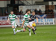 Dundee&rsquo;s Greg Stewart curls in a shot  - Dundee v Celtic, Ladbrokes Scottish Premiership at Dens Park<br />  <br />  - &copy; David Young - www.davidyoungphoto.co.uk - email: davidyoungphoto@gmail.com