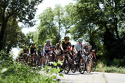 Grace Brown (AUS) and Nikola Noskova (CZE) lead the bunch during Stage 8 of 2019 Giro Rosa Iccrea, a 133.3 km road race from Vittorio Veneto to Maniago, Italy on July 12, 2019. Photo by Sean Robinson/velofocus.com