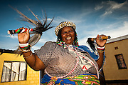 Beauty is a Sangoma in the Northern Drakensberg of Kwa Zulu Natal. She is a big lady that demands the respect that her regular visitors give her. But it doesn't take much to get her laughing in a totally infectious manner once the necessary rituals of a consultation are taken care of.