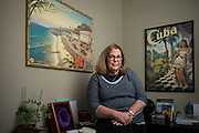 Debra Stern poses for a portrait at her Peak Travel Group office in San Jose, California, on November 18, 2016, for a Good Samaritan Hospital Cancer Survivor feature. (Stan Olszewski/SOSKIphoto)