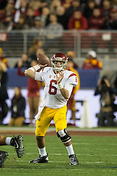 SANTA CLARA, CA - DECEMBER 05:  Quarterback Cody Kessler #6 of the USC Trojans passes against the Stanford Cardinal during the fourth quarter of the Pac-12 Championship game at Levi's Stadium on December 5, 2015 in Santa Clara, California. The Stanford Cardinal defeated the USC Trojans 41-22. (Photo by Jason O. Watson/Getty Images) *** Local Caption *** Cody Kessler
