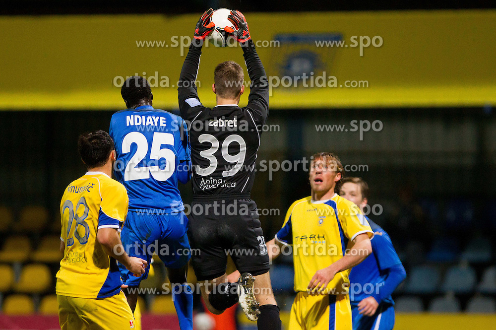 Gregor Zabret #39 of Domzale during football match between NK Domzale vs ND Gorica in 17th Round of PrvaLiga NZS 2012/13 on November 7, 2012 in Sports park Domzale, Slovenia. (Photo By Vid Ponikvar / Sportida)