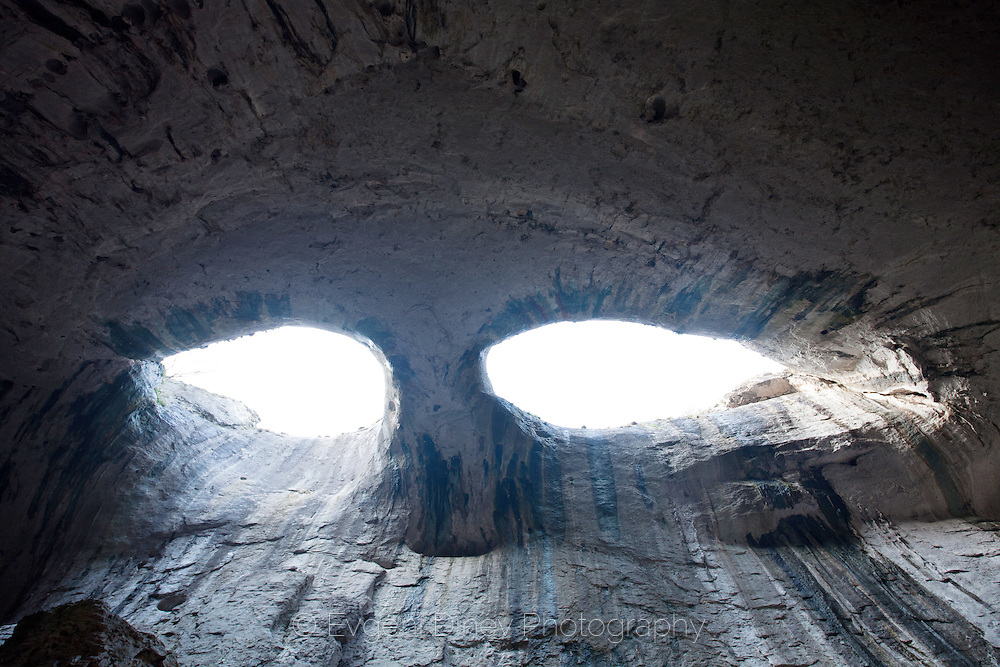 Cave Prohodna is one with the largest entries in Bulgaria