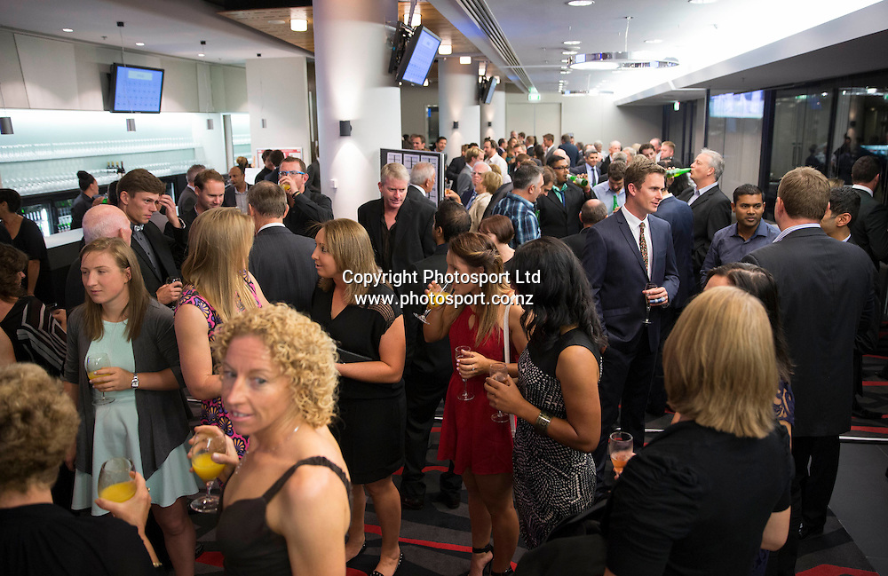 A large crowd at the Cricketer of the Year Awards Dinner 2014 held by Auckland Cricket at Eden Park on the 15 April 2014. <br /> Credit; Peter Meecham/ www.photosport.co.nz