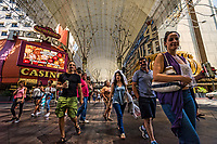 Strolling through the Fremont Street Experience