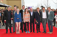 LEAVESDEN - MARCH 31: Alfonso Cuaron; David Yates; Evanna Lynch; Mike Newell; Bonnie Wright; David Barron; Rupert Grint; David Heyman; Tom Felton attend the Worldwide Grand Opening of the Warner Bros. Studio Tour London  The Making of Harry Potter at Leavesden Studios, Watford, UK. March 31, 2012. (Photo by Richard Goldschmidt)