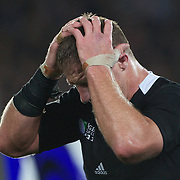 Brad Thorn, New Zealand, realises his side have just won the World Cup  during the New Zealand V France Final at the IRB Rugby World Cup tournament, Eden Park, Auckland, New Zealand. 23rd October 2011. Photo Tim Clayton...