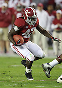 TUSCALOOSA, AL - NOVEMBER 10:  Running back Eddie Lacy #42 of the Alabama Crimson Tide runs during the game against the Texas A&M Aggies at Bryant-Denny Stadium on November 10, 2012 in Tuscaloosa, Alabama.  (Photo by Mike Zarrilli/Getty Images)