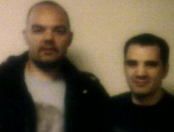 © Licensed to London News Pictures. 05/03/2012. Bolton, UK. Collect picture of Anthony Grainger (left) with his brother Stuart Grainger (right). Anthony Grainger died as a result of a single gunshot wound to the chest, during a police operation in Culcheth, Cheshire, on the evening of Saturday 3rd March 2012. Three men have been charged with conspiracy to commit robbery. The IPCC are investigating the death. An inquest is due to take place at Warrington Coroners Court today (5th March). Photo credit : LNP