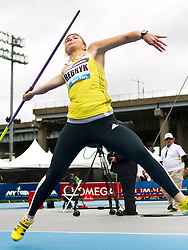 adidas Grand Prix Diamond League professional track & field meet: womens javelin throw, Vira REBRYK, Ukraine