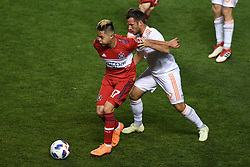 May 5, 2018 - Bridgeview, IL, U.S. - BRIDGEVIEW, IL - MAY 05: Chicago Fire Diego Campos (17) controls the ball during a game between Atlanta United FC and the Chicago Fire on May 5, 2018, at Toyota Park, in Bridgeview, IL. (Photo by Patrick Gorski/Icon Sportswire) (Credit Image: © Patrick Gorski/Icon SMI via ZUMA Press)
