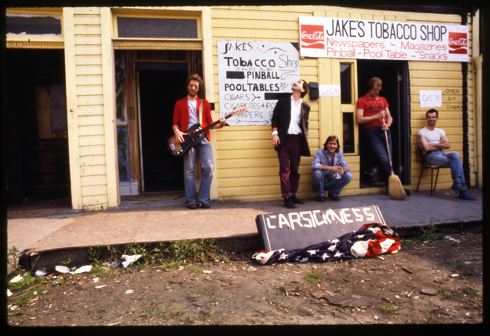 The punk band Carsickness in the early 80's in Oakland.