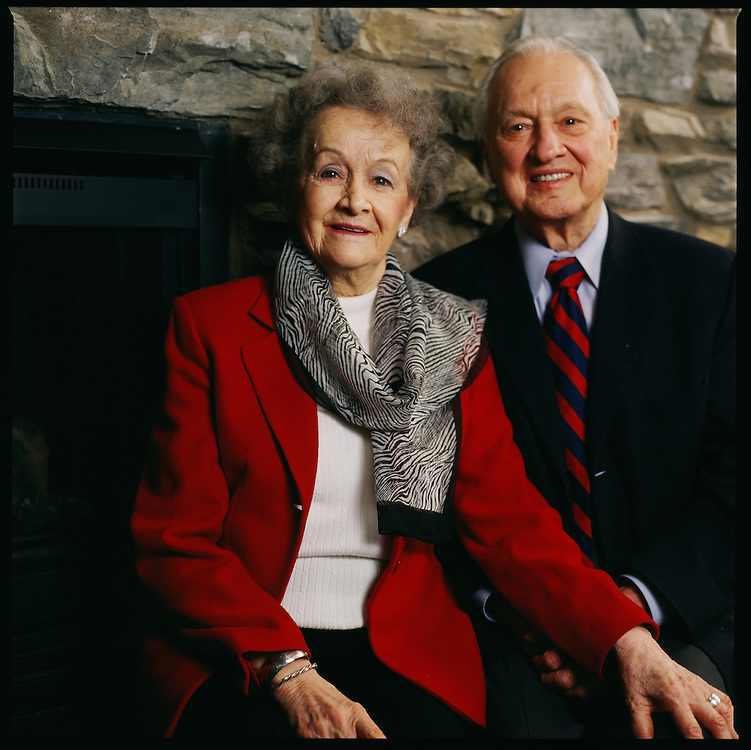 Former Governor of Alaska, Wally Hickel and his wife Irma Lee in Anchorage, Alaska. 2008
