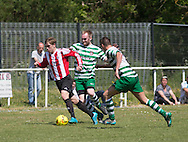 - Dundee Argyle (red and white stripes) v Fintry Athletic (green and white hoops)  Association Cup Final at Fairfield Park<br /> <br />  - &copy; David Young - www.davidyoungphoto.co.uk - email: davidyoungphoto@gmail.com