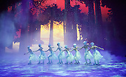 Imperial Ice Stars <br /> Nutcracker on ice <br /> Artistic Director Tony Mercer <br /> Music by Tchaikovsky<br /> Royal Albert Hall, London, Great Britain <br /> 28th December 2015 <br /> rehearsal <br /> <br /> snowflakes <br /> <br />  <br /> <br /> International ice dance sensation, The Imperial Ice Stars, return for a third season at the Royal Albert Hall with their production of The Nutcracker on Ice for Christmas 2015, as part of their 10th anniversary world tour. The Nutcracker on Ice will open on Monday 28 December for a strictly limited season of 12 performances.<br /> <br /> <br /> <br />  <br /> <br /> Photograph by Elliott Franks <br /> Image licensed to Elliott Franks Photography Services