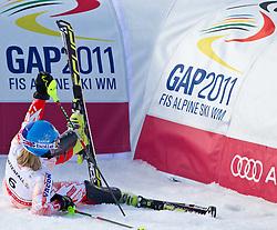 19.02.2011, Gudiberg, Garmisch Partenkirchen, GER, FIS Alpin Ski WM 2011, GAP, Damen, Slalom, im Bild Tanja Poutiainen (FIN) // Tanja Poutiainen (FIN) during Ladie's Slalom Fis Alpine Ski World Championships in Garmisch Partenkirchen, Germany on 19/2/2011. EXPA Pictures © 2011, PhotoCredit: EXPA/ J. Groder