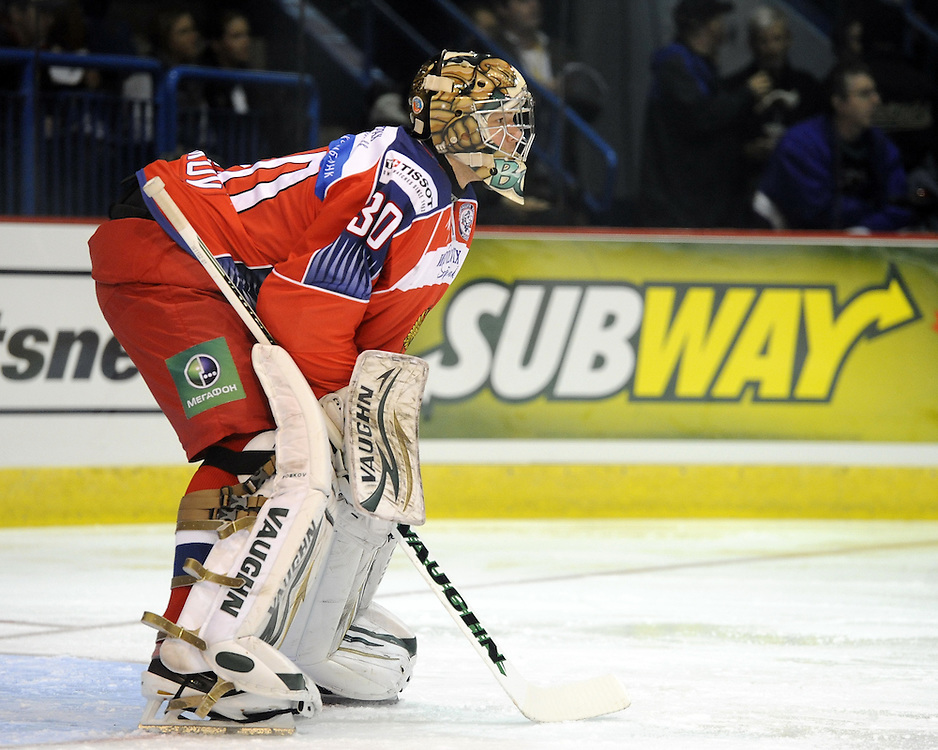 Igor Bobkov in Game 4 of the SUBWAY Super Series in Sudbury, ON on Monday Nov. 15, 2010.  Photo by Aaron Bell/OHL Images