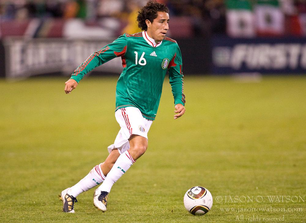 February 24, 2010; San Francisco, CA, USA;  Mexico defender Efrain Juarez (16) during the second half against Bolivia at Candlestick Park. Mexico defeated Bolivia 5-0.
