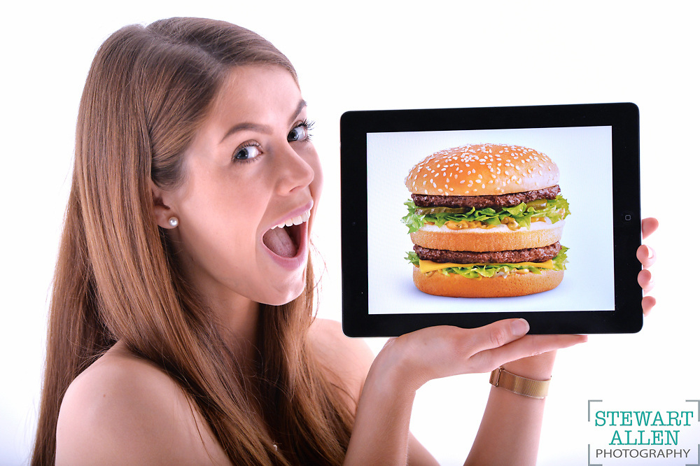 NEWS Heather Fordham with Big Mac app. McDonalds are introducing a new app where customers can pre-order food before heading to an outlet.