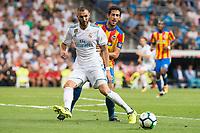 Real Madrid's Karim Benzema during La Liga match between Real Madrid and Valencia CF at Santiago Bernabeu Stadium in Madrid, Spain August 27, 2017. (ALTERPHOTOS/Borja B.Hojas)
