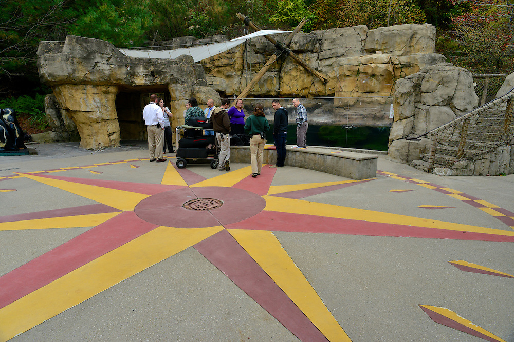 People gathering at the Akron Zoo.