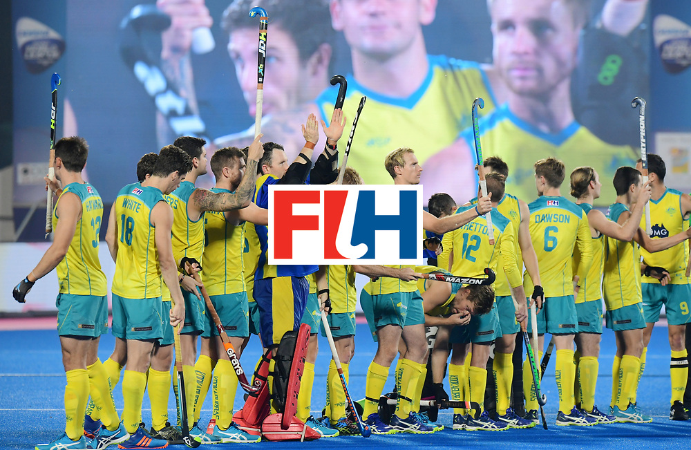 Odisha Men's Hockey World League Final Bhubaneswar 2017<br /> Match id:22<br /> Argentina v Australia Final<br /> Foto: Line Up<br /> COPYRIGHT WORLDSPORTPICS FRANK UIJLENBROEK