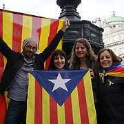 Activists celebrete Catalonia, declared indenpendce from Spain colonialism
