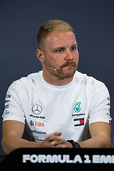 May 9, 2019 - Barcelona, BARCELONA, SPAIN - BARCELONA, CATALONIA, SPAIN 9 of May. Valteri Bottas driver of Mercedes AMG F1 during the official press conference before the Spanish GP at Circuit de Barcelona Catalunya (Credit Image: © AFP7 via ZUMA Wire)