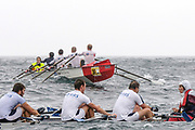 St Peter's Port, Guernsey, CHANNEL ISLANDS,  Crews approaching and turning during Sun's leg of the 2006 FISA World Coastal Rowing  Rowing  Challenge,  03/09/2006.  Photo  Peter Spurrier, © Intersport Images,     <br /> <br /> RBS Guernsey RC turning, Close Fund 1 Guernsey RC Approaching