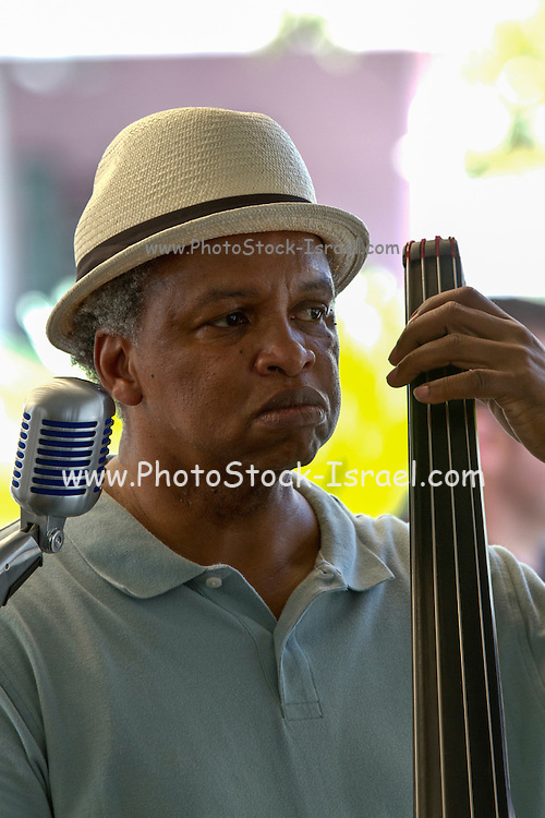Jazz player in New Orleans, LA, USA