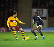 23rd December 2017, Fir Park, Motherwell, Dundee; Scottish Premier League football, Motherwell versus Dundee; Dundee's Glen Kamara takes on Motherwell's Charles Dunne