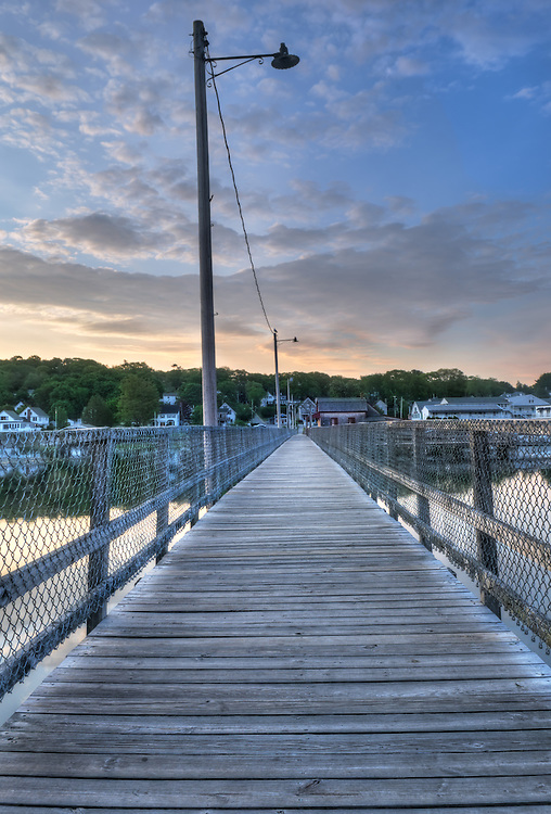 The Walking Bridge over Boothbay Harbor, Maine