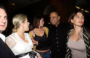 Elizabeth Esteve, Pyrrhos Vardinoyannis, Holly Davidson, Dr. Joshi, and Sadie Frost. Book launch for Dr. Joshi's Holistic Dett. The Arts Club, 40 Dover st. London. 26 May 2005. ONE TIME USE ONLY - DO NOT ARCHIVE  © Copyright Photograph by Dafydd Jones 66 Stockwell Park Rd. London SW9 0DA Tel 020 7733 0108 www.dafjones.com