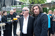 DAMIEN HIRST; ANTONY GENN, 2009 Serpentine Gallery Summer party. Sponsored by Canvas TV. Serpentine Gallery Pavilion designed by Kazuyo Sejima and Ryue Nishizawa of SANAA. Kensington Gdns. London. 9 July 2009.
