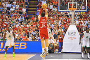 DESCRIZIONE : Campionato 2013/14 Finale GARA 7 Olimpia EA7 Emporio Armani Milano - Montepaschi Mens Sana Siena Scudetto<br /> GIOCATORE : Alessandro Gentile<br /> CATEGORIA : Tiro tre punti Controcampo<br /> SQUADRA : Olimpia EA7 Emporio Armani Milano<br /> EVENTO : LegaBasket Serie A Beko Playoff 2013/2014<br /> GARA : Olimpia EA7 Emporio Armani Milano - Montepaschi Mens Sana Siena<br /> DATA : 27/06/2014<br /> SPORT : Pallacanestro <br /> AUTORE : Agenzia Ciamillo-Castoria / Luigi Canu<br /> Galleria : LegaBasket Serie A Beko Playoff 2013/2014<br /> Fotonotizia : DESCRIZIONE : Campionato 2013/14 Finale GARA 7 Olimpia EA7 Emporio Armani Milano - Montepaschi Mens Sana Siena<br /> Predefinita :