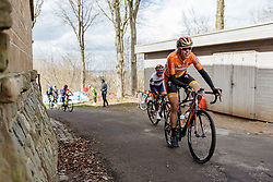 Ellen van Dijk looks like she's enjoying being back in the peloton on  Banenberg - Women's Gent Wevelgem 2016, a 115km UCI Women's WorldTour road race from Ieper to Wevelgem, on March 27th, 2016 in Flanders, Belgium.