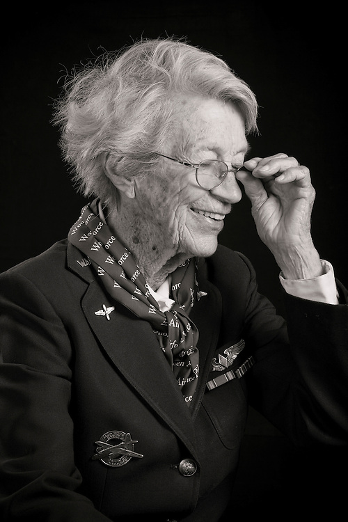 """Dotty""Lewis graduated from WASP Class 44-5, and flew P-40's, the P-63, and the B-26 Marauder.  She was also an instructor pilot.  After the war she worked teaching art (among other things), and her portrait of former Attorney General Janet Reno hangs in the US Justice Department in Washington, D.C.  She has a bronze statue commemorating the WASP's in the Honor Court of the US Air Force Academy, in Colorado Springs, Colorado.   Created by aviation photographer John Slemp of Aerographs Aviation Photography. Clients include Goodyear Aviation Tires, Phillips 66 Aviation Fuels, Smithsonian Air & Space magazine, and The Lindbergh Foundation.  Specialising in high end commercial aviation photography and the supply of aviation stock photography for commercial and marketing use."