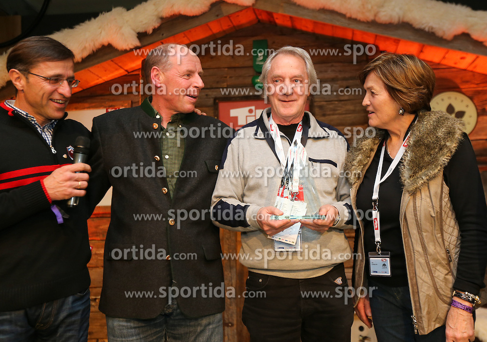 07.02.2013, Tirolberg, Schladming, AUT, FIS Weltmeisterschaften Ski Alpin, AIPS Night, im Bild Josef Margreiter (Tirolwerbung), Harti Weirather (Abfahrtsweltmeister 1982), Richard Hegglin (SUI), Olga Scartezzini (Olympiasiegerin) // at the AIPS Night during FIS Ski World Championships 2013 at the Tirolberg, Schladming, Austria on 2013/02/07. EXPA Pictures © 2013, PhotoCredit: EXPA/ Johann Groder