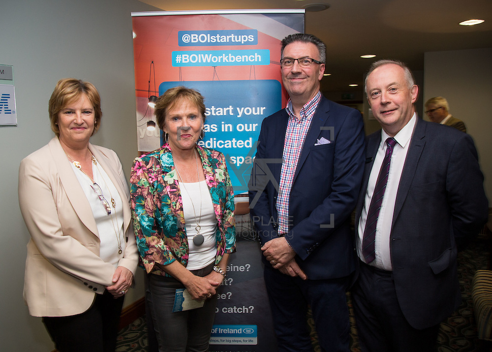 17.05.2016               <br /> A seminar focused on a Start your Own Business programme, targeted at mature entrepreneurs aged 55 plus took place in the Savoy Hotel, Limerick on Tuesday evening, 17 May.  Called Ingenuity, the programme, led by the Ireland Smart Ageing Exchange (ISAX) and sponsored by Bank of Ireland will be run in collaboration with the Local Enterprise Office in Limerick, and will take place over eight weeks, starting in late September 2016.  The seminar provided detailed information on the Start your Own Business programme that will seek interest from those looking to set up both lifestyle and fast-growth businesses.  <br /> <br /> Pictured at the event are, Antoinette Golden, Bank of Ireland, Anne Connelly, CEO, Ireland Smart Ageing Exchange, Pat Carroll, Start-up Community Manager, Bank of Ireland and David Hurley, Bank of Ireland. Picture: Alan Place