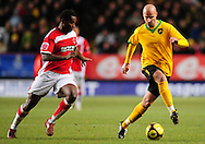 London - Saturday, January 3rd, 2009: Jose Semedo of Charlton Athletic and Antoine Sibierski of Norwich City during the FA Cup Third Round match at The Valley, London. (Pic by Alex Broadway/Focus Images)