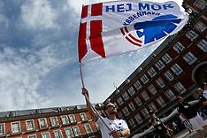 20131001 FCK fans på Plaza Mayor i Madrid