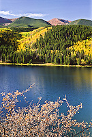 Sylvan Lake during the autumn season. Sylvan Lake State Park, Colorado.