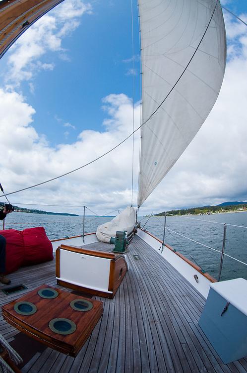 Sailing Aboard the Orion, San Juan Islands, Puget Sound, Washington