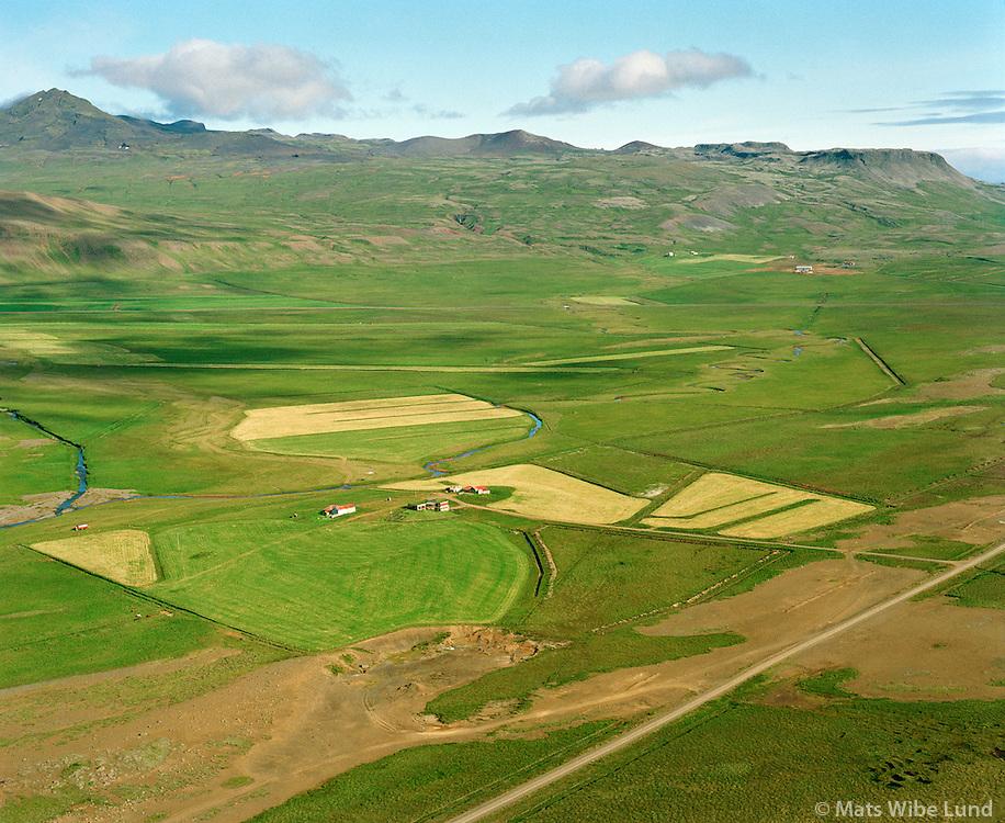 Hrossholt séð til norðvesturs, Eyja- og Miklaholtshreppur /  Hrossholt viewing northwest, Eyja- og Miklaholtshreppur.