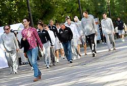 National basketball team of Slovenia walking at Laisves Al. in Kaunas city centre during FIBA Europe Eurobasket Lithuania 2011, on September 14, 2011, in Kaunas, Lithuania.  (Photo by Vid Ponikvar / Sportida)
