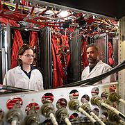John Hardin and Kael Hanson at IceCube Lab