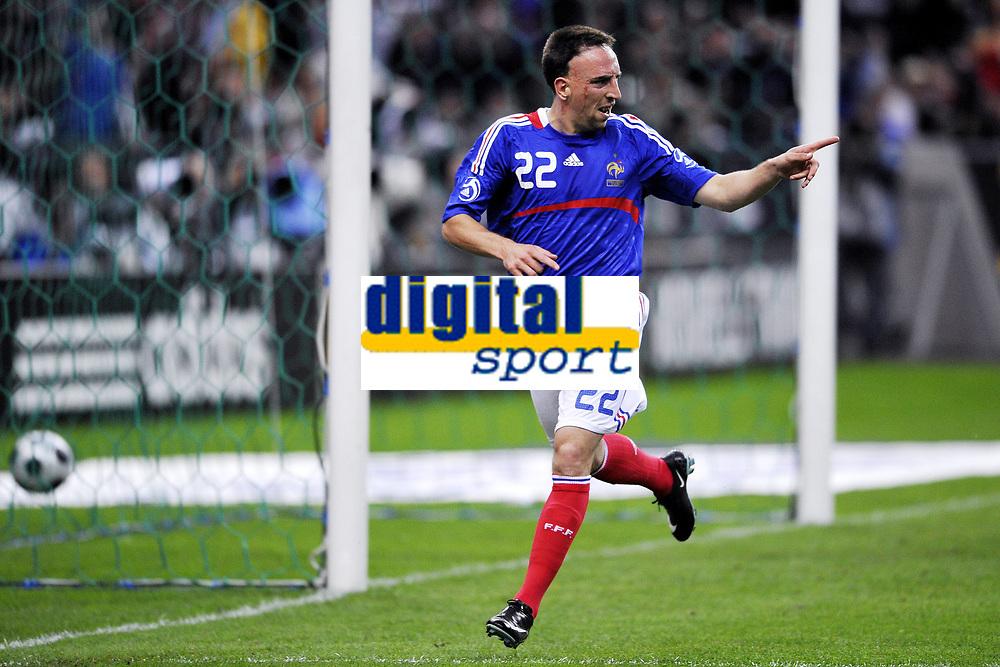 Fotball<br /> Frankrike v Colombia<br /> Foto: Dppi/Digitalsport<br /> NORWAY ONLY<br /> <br /> FOOTBALL - FRIENDLY GAME 2007/2008 - FRANCE v COLOMBIA - 03/06/2008 - JOY FRANCK RIBERY (FRA) AFTER HIS GOAL
