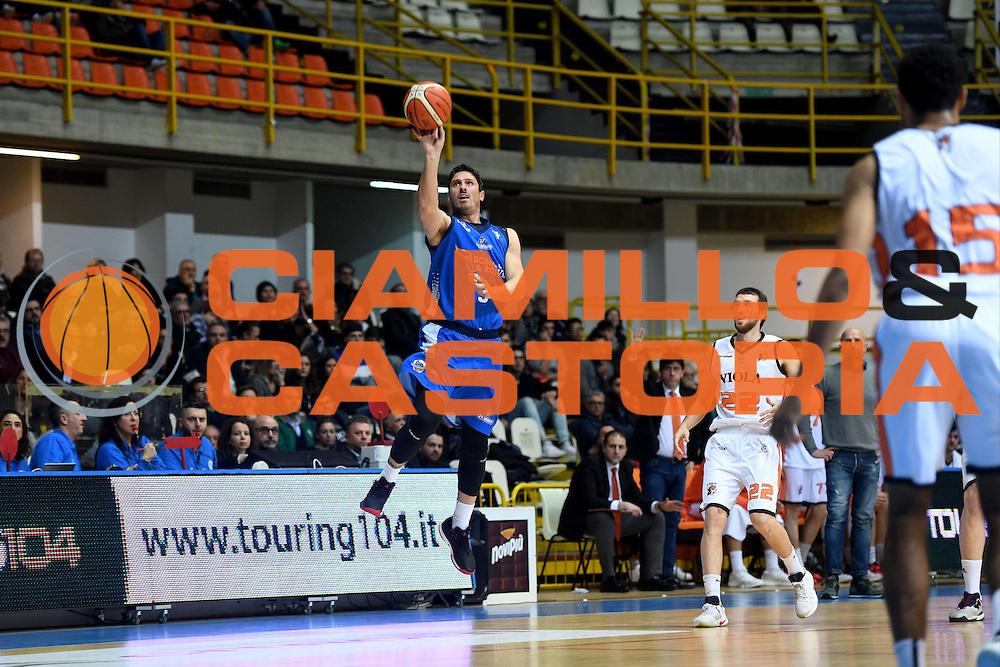Alex Righetti<br /> Viola Reggio Calabria - Roma Gas &amp; Power Roma<br /> Campionato Basket LNP 2016/2017<br /> Reggio Calabria 26/02/2017<br /> Foto Ciamillo-Castoria